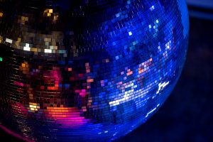 1980's music disco ball